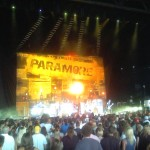 Paramore's backdrop was bitchin'—and that's not just because I'm a sucker for newspaper chic.